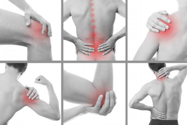 durere la nivelul articulațiilor genunchiului și la mâini)