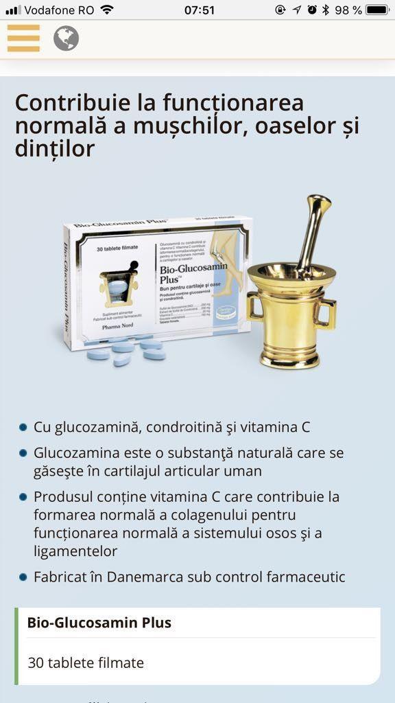 Bio-Glucosamin Plus, 30 tablete filmate