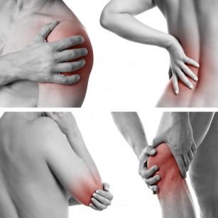 articulații la dreapta și la stânga rănite)