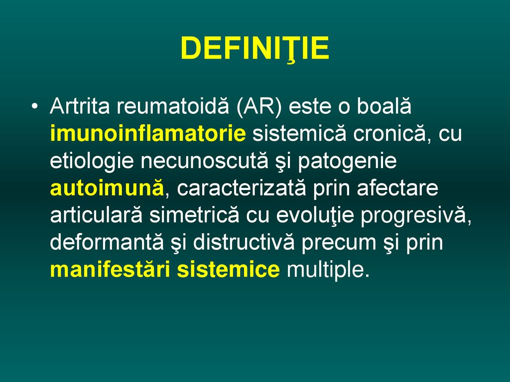 artrita deformantă articulară)