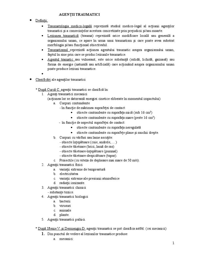 clasificarea leziunilor articulare)