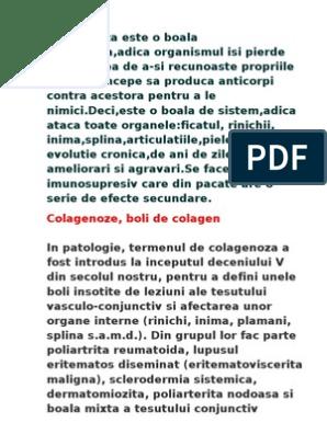 boala colagenoasă a țesutului conjunctiv)
