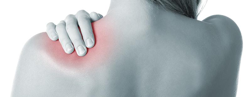 Dureri la nivelul articulațiilor umărului și crăpături.