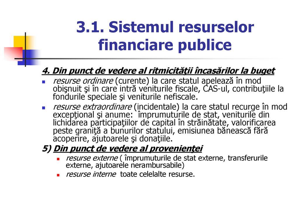 tratament comun bugetar)